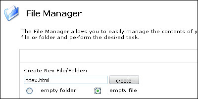 File Manager Interface