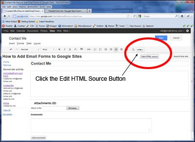 Click the Edit HTML Source Button