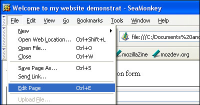 Using SeaMonkey Composer to Build Contact Forms