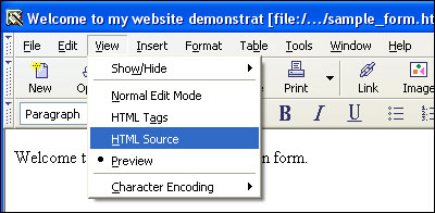 HTML Source Dropdown