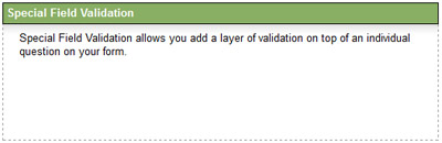 Click Special Field Validation