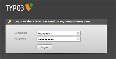 Login to your Typo3 account
