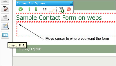 Select Form Location