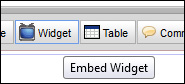 Click the Embed Widget Button
