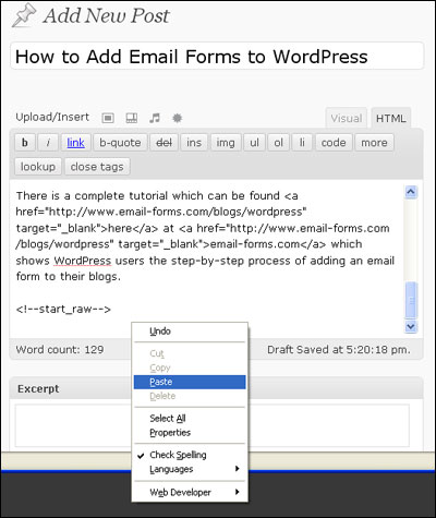 Enhance Your WordPress Blog with an Email Form